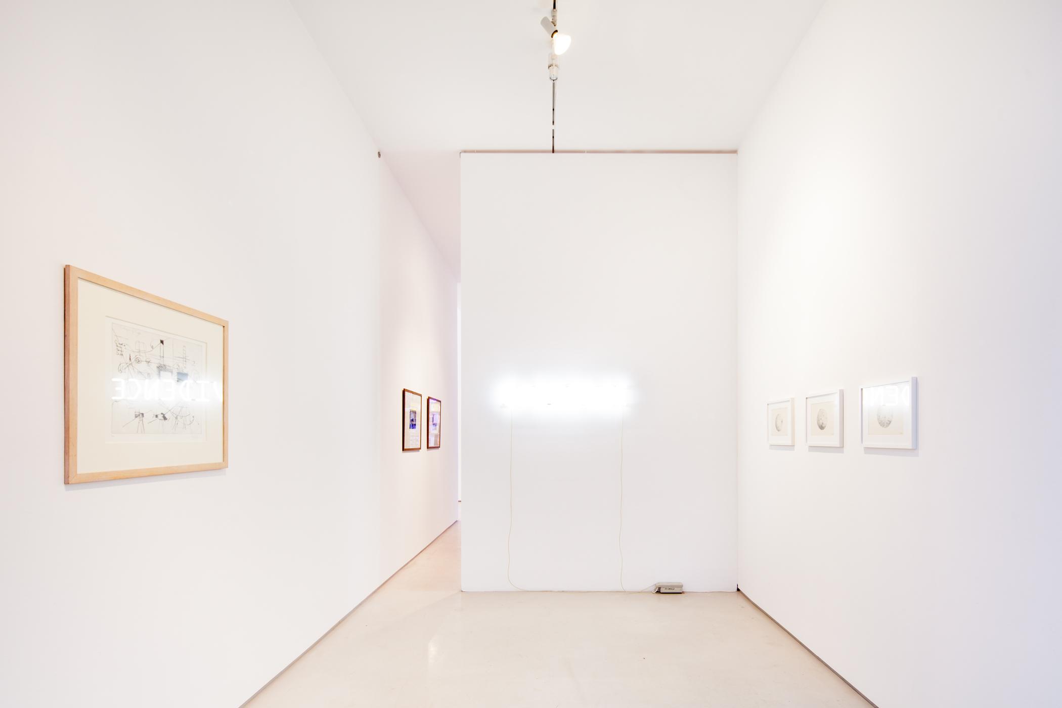 """installation view """"MIXED MEDIA XMAS"""""""