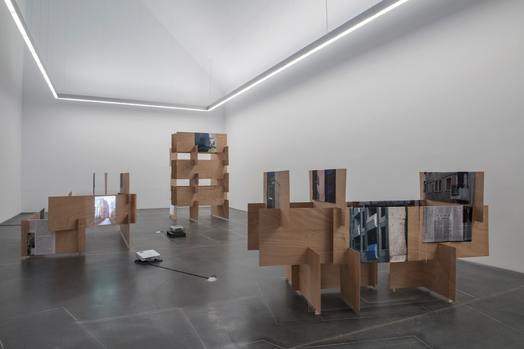 """Exhibition View """"Unterkunft Freiheit/ Accommodation Freedom"""" solo show"""